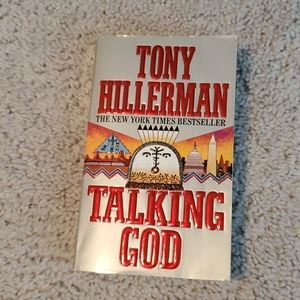 "Tony Hillerman ""Talking God"" signed paperback"